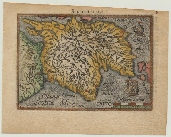 Ortelius Scotland Galle