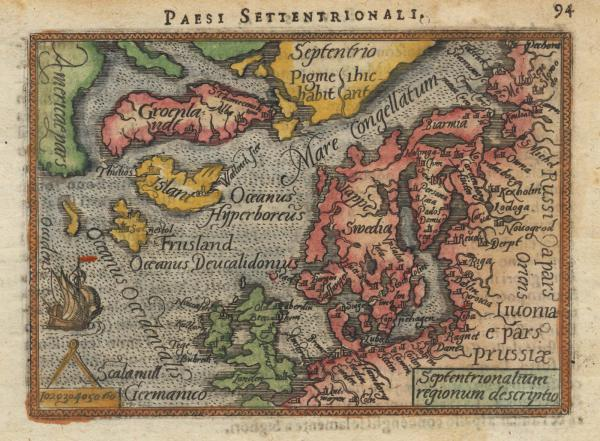 Ortelius Northern Europe Galle